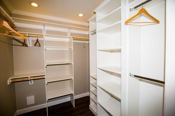 interior of closet